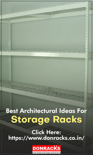 An Industrial Steel storage rack with four shelves, isolated on a white background for architectural storage plan.